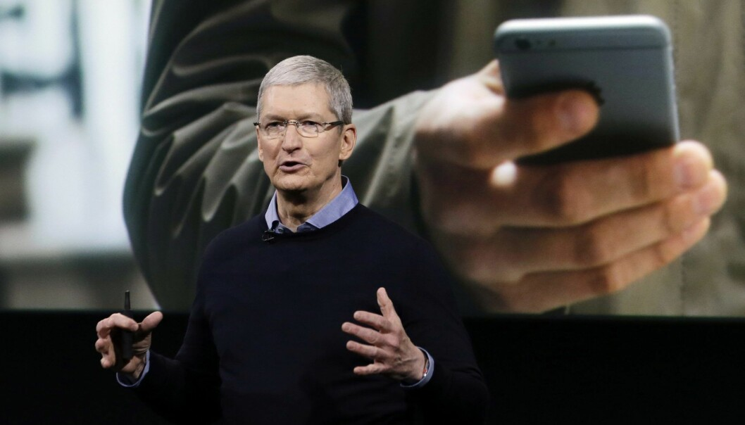 Apple CEO Tim Cook. Arkivfoto: AP Photo/Marcio Jose Sanchez, File