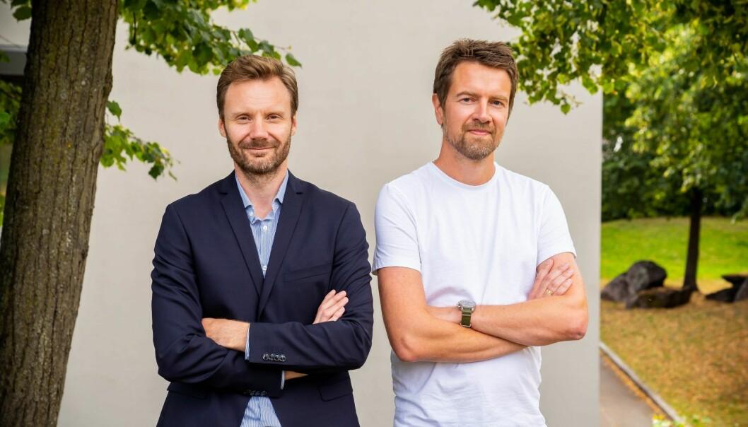 Trygve Håkedal og Terje Løken blir nye konsernsjefer i Storebrand for henholdsvis Technology og Digital og Innovasjon. Foto: Storebrand
