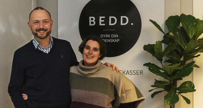 Ekteparet Kristian Bye og Katja Marty Bye har drevet Bedd sammen. Foto: Benedicte Tandsæther-Andersen