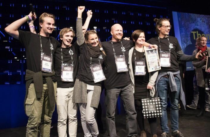 Teamet bak Hidden under Slush-konferansen i 2016. Foto: Per-Ivar Nikolaisen