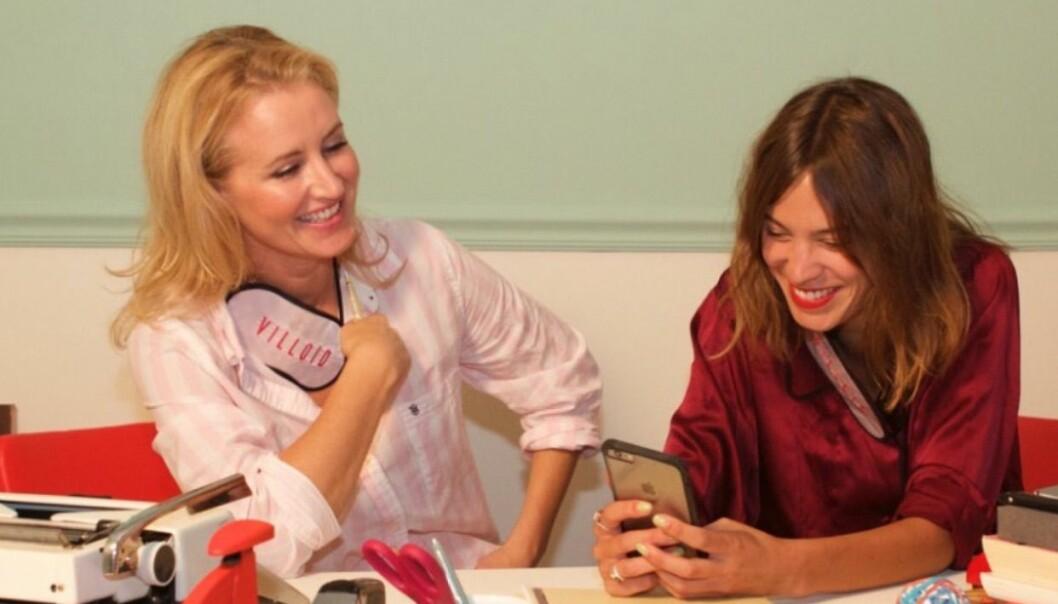 Jeanette Dyhre Kvisvik (t.v.) og Alexa Chung fant hverandre med Villoid.