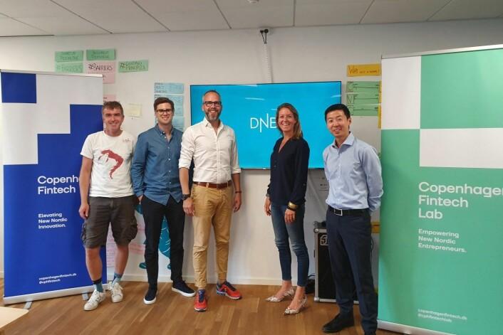 Simon Schou (Cph. FinTech), Fredrik Abel (DNB), Thomas Krogh Jensen (Cph. FinTech), Karen Elisabeth Ohm Heskja (DNB) and Petter Lee-Johannessen (DNB).