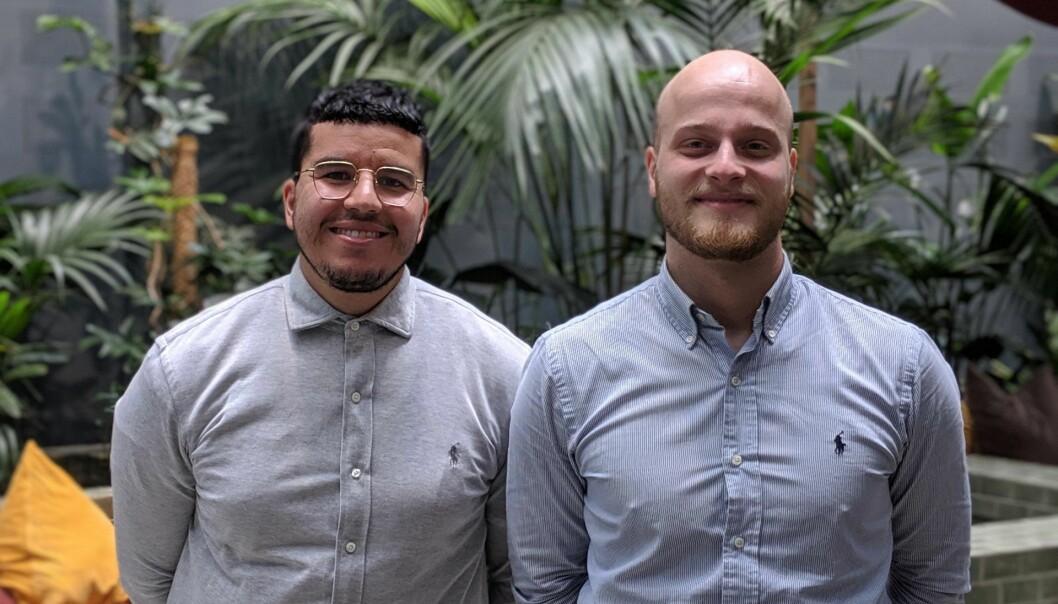 Nassir Achour, daglig leder i Reodor, og Magnus Bjelland. Foto: Reodor