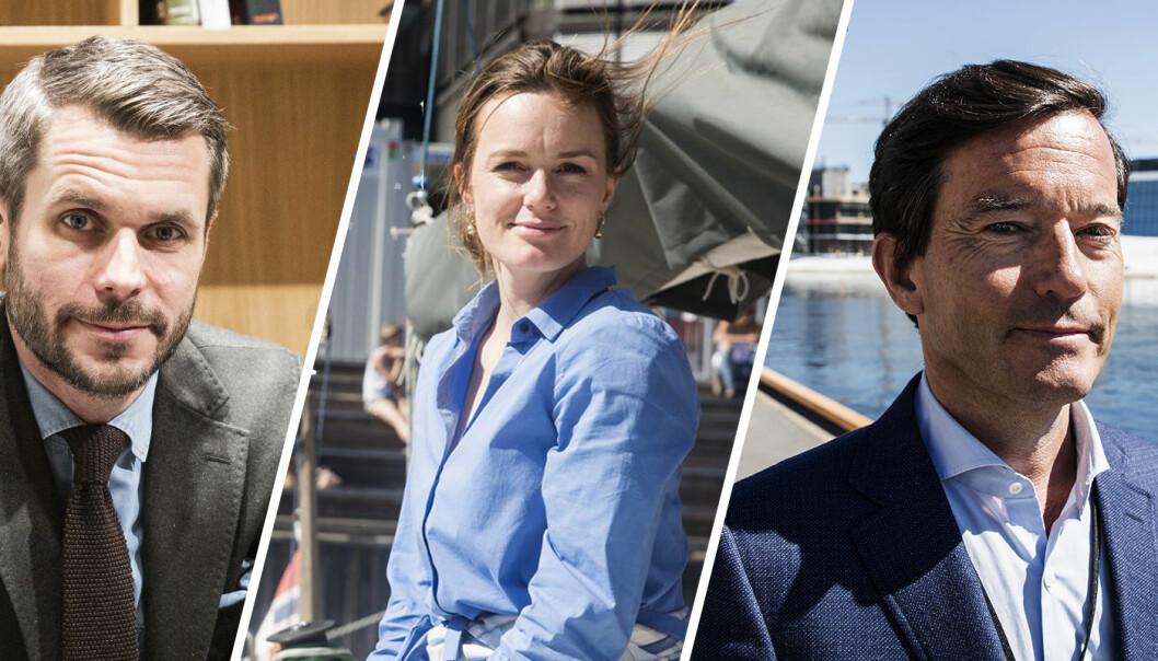 Tripod-investor Henrik Lie-Nielsen, leder i NVCA, Rikke Eckhoff Høvding, og investor Trond Riiber Knudsen. Foto: Per-Ivar Nikolaisen