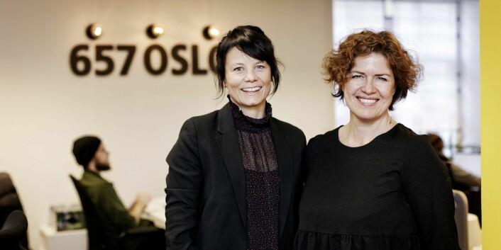 Camilla Watz Johannessen og grunnlegger Anniken Fjelberg i 657, da førstnevnte begynte som daglig leder i fjor. Foto: Oda Hveem