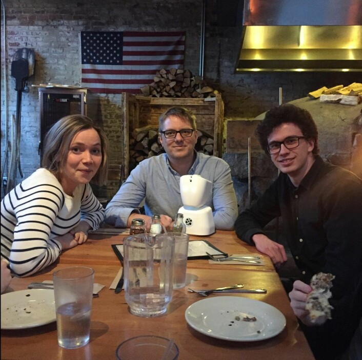 No Isolation da selskapet ennå var ungt: Karen Dolva, Marius Aabel og Matias Doyle. Foto: Adam Scheuring
