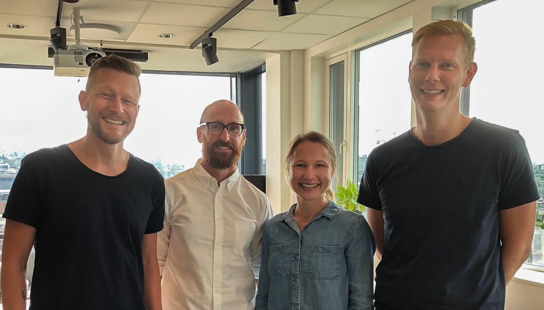 Fra venstre: Hans Martin Cramer, Mike Jones, Jorinde Prokosch og Stein Magnus Jodal. Foto: Kolonial