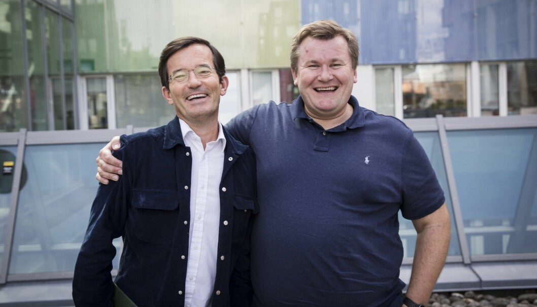 Trond Riiber Knudsen og Tore Sagstuen er parhester i TRK Group. Foto: Per-Ivar Nikolaisen