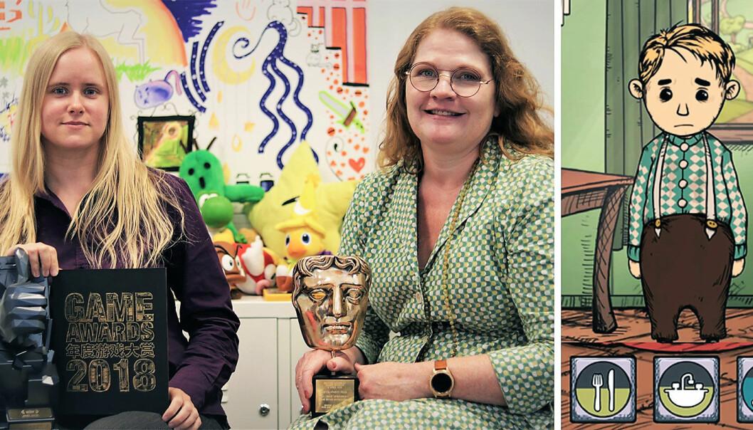 Catharina Bøhler i Sarepta Studios og Elin Festøy fra Teknopilot har vunnet flere priser for spillet Mitt Barn Lebensborn. Foto: Torill Henriksen