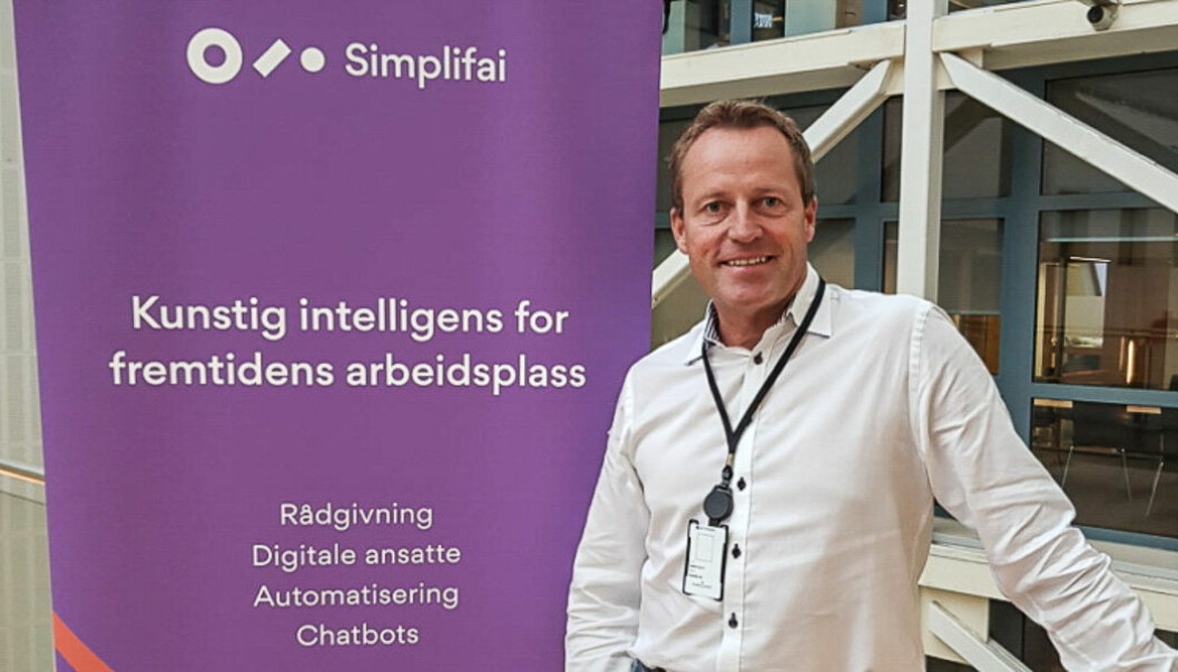 Som salgssjef i Simplifai skal Morten O. Skaar i første omgang kartlegge markedet. Foto: Privat