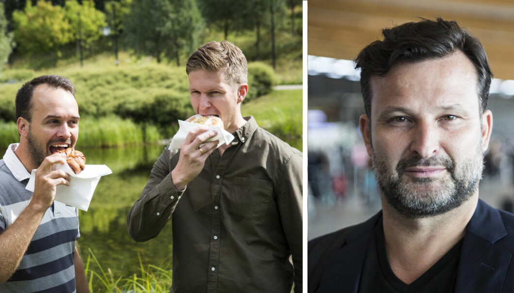 Martin Lang og Alexander Skaug i MyFoodOffice gleder seg over at Are Traasdahl har blitt foodtech-gründer. Fotos: Per-Ivar Nikolaisen