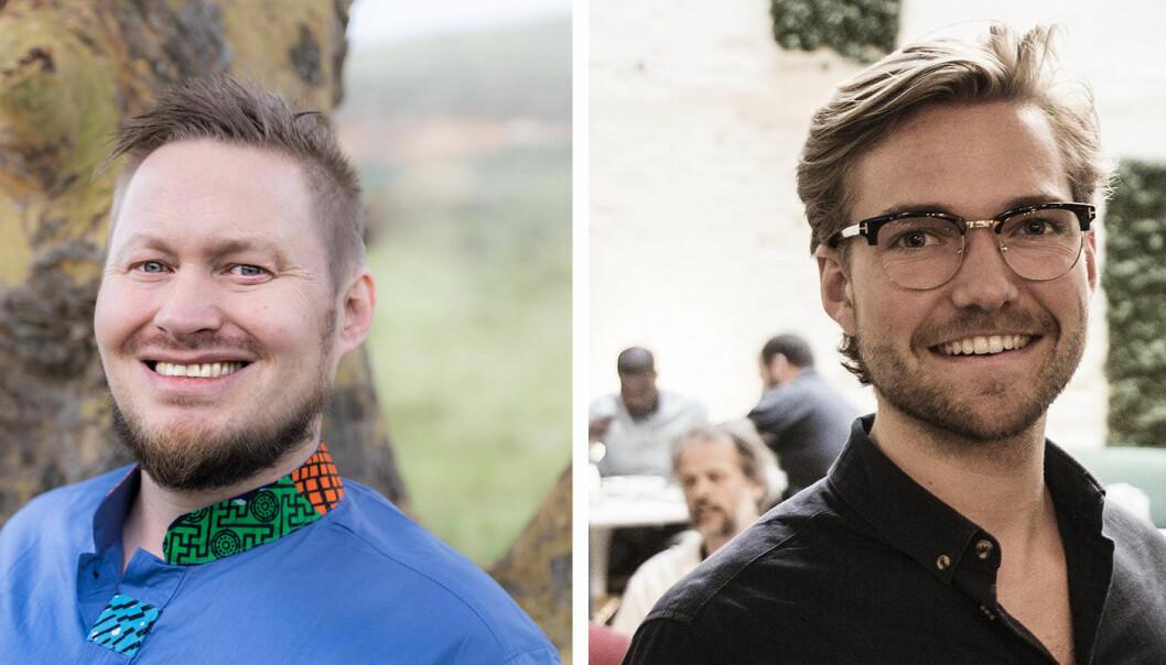 HotelOnline-gründer Håvar Bauck og Key Butler-gründer Oscar Hellenes.