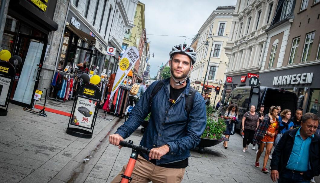 CEO i VOI, Fredrik Hjelm mener fyllekjøring på sparkesykkel har blitt kultur i Norden. Foto: Torill Henriksen