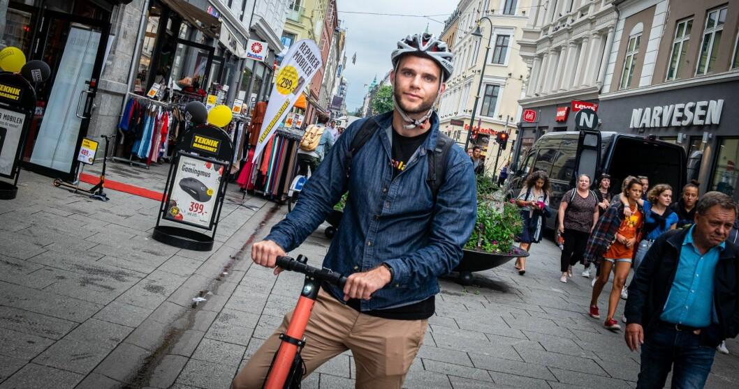 CEO i VOI, Fredrik Hjelm. Foto: Torill Henriksen