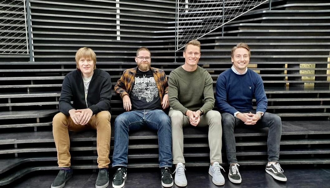 Unloc har ansatt Raymond Gulbrandsen fra DNB, UX-designer Håvard Seljevold fra Knowit og Pål Berget, som jobbet med salg i Storebrand. Her sammen med daglig leder Kris Riise. Foto: Unloc