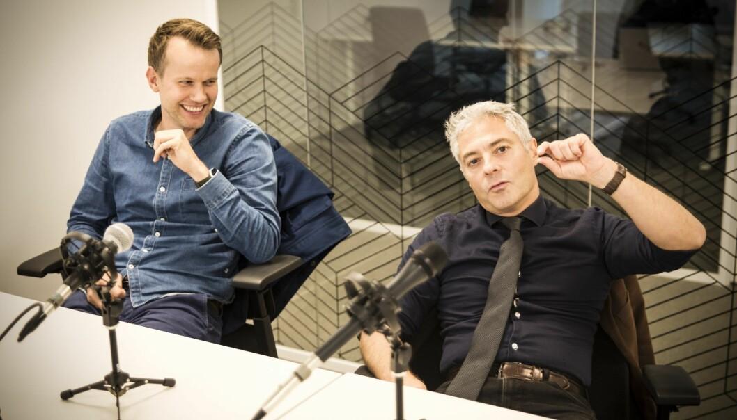 Mats Staugaard og Salvador Baille i Shifters podcast. Foto: Per-Ivar Nikolaisen