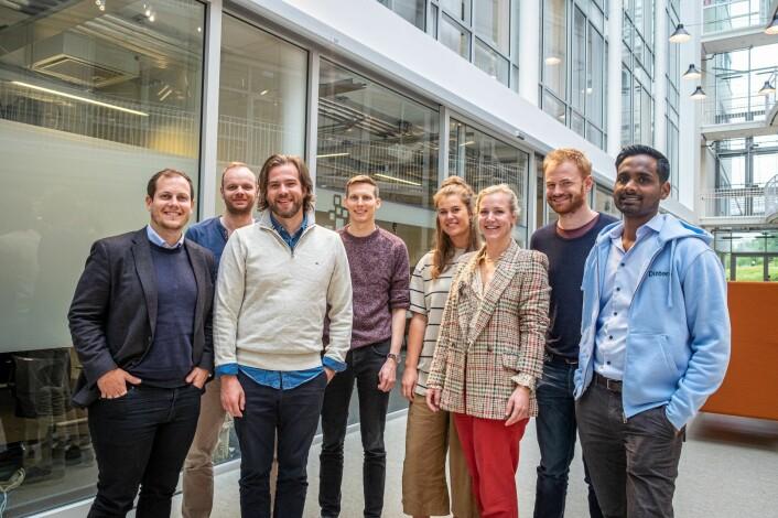 Dintero-teamet på StartupLab. Foto: Vilde Mebust Erichsen