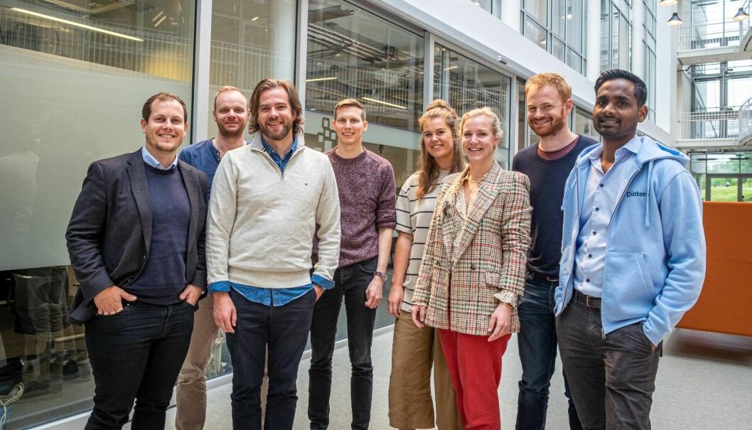 Dintero-teamet på StartupLab. Gründer Daro Navaratnam til høyre. Foto: Vilde Mebust Erichsen
