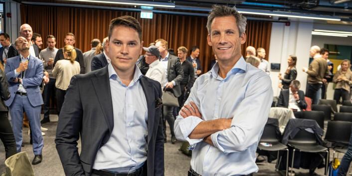 Analysesjef i Cicero Consulting, Stefan Astroza og Kristian Enger, konserndirektør i Itera. Foto: Vilde Mebust Erichsen