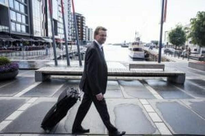Bent R. Eidem skal rekke et fly, det bør også norske gründere, og det ut i verden så raskt som mulig. Foto: Per-Ivar Nikolaisen