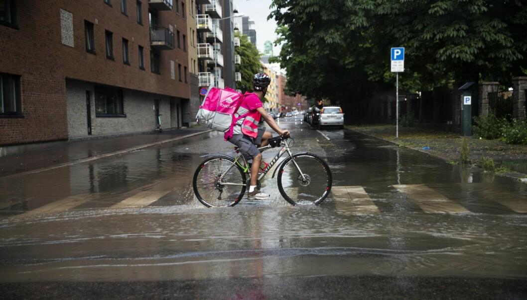 Foodora-syklist.  Illustrasjonsfoto: Berit Roald / NTB scanpix