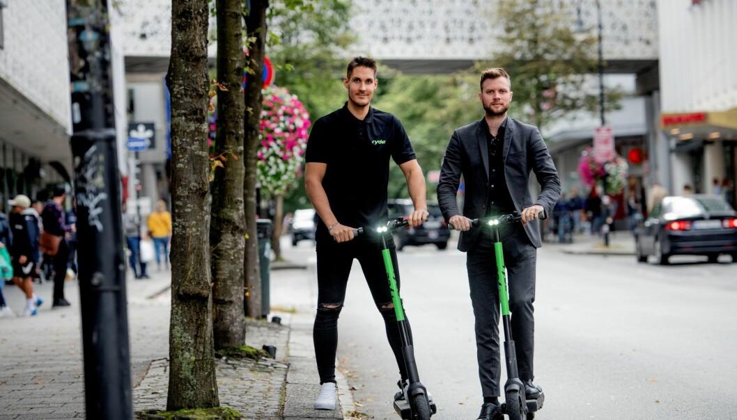 Johan Olovsson og Espen Rønneberg i Ryde Technology angrer ikke på flyttingen ut av Oslo. Foto: Jan Inge Haga, Stavanger Aftenblad