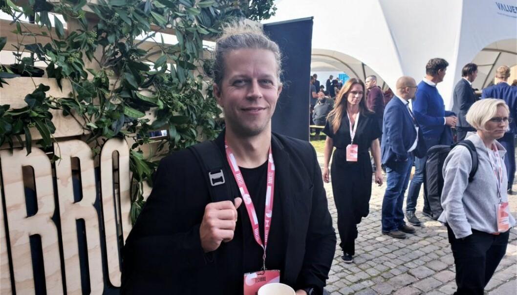 Joshua Slayton, gründer av Coinlist. Foto: Lucas Weldeghebriel.