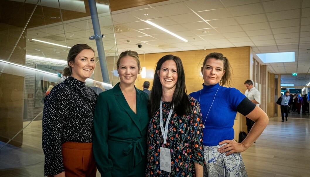 Julie Hella Bauge, Kimberly Larsen, Marie Mostad og Åste Einn under lanseringen av Founder Collective Norway. Foto: Vilde Mebust Erichsen