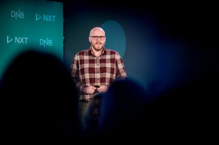 Hans Henriksen Marki pitchet sin startup Algaepro da selskapet bare var noen måneder gammelt. Foto: GORM K GAARE