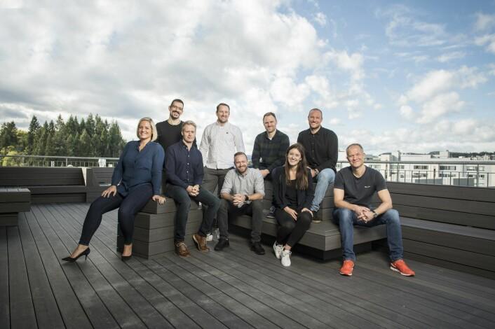 Norselab-teamet, med Aksel Lund Svindal øverst til høyre. Foto: Press
