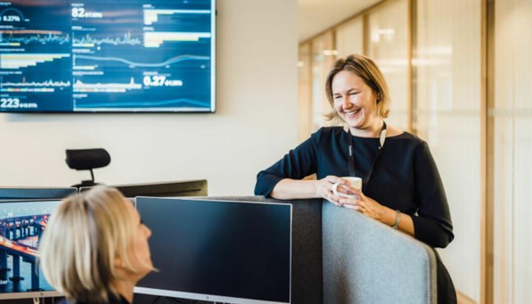 Christine Wald-Jacobsen er leder for brukeropplevelse i Sbanken. Foto: Presse