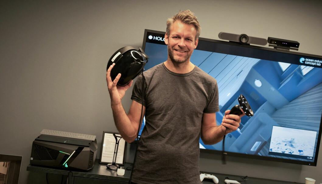 Peder Børresen i Holocap har blitt partner på Microsofts nye Test Center i Oslo. Foto: Torill Henriksen