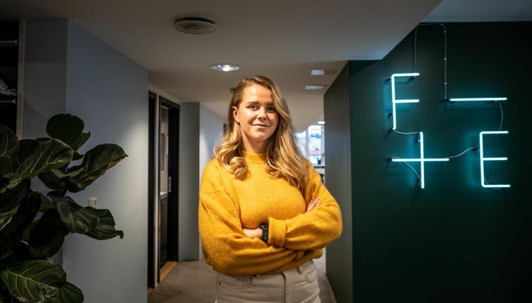 Kristine Angeltvedt leder Nixa.io. Foto: Vilde Mebust Erichsen