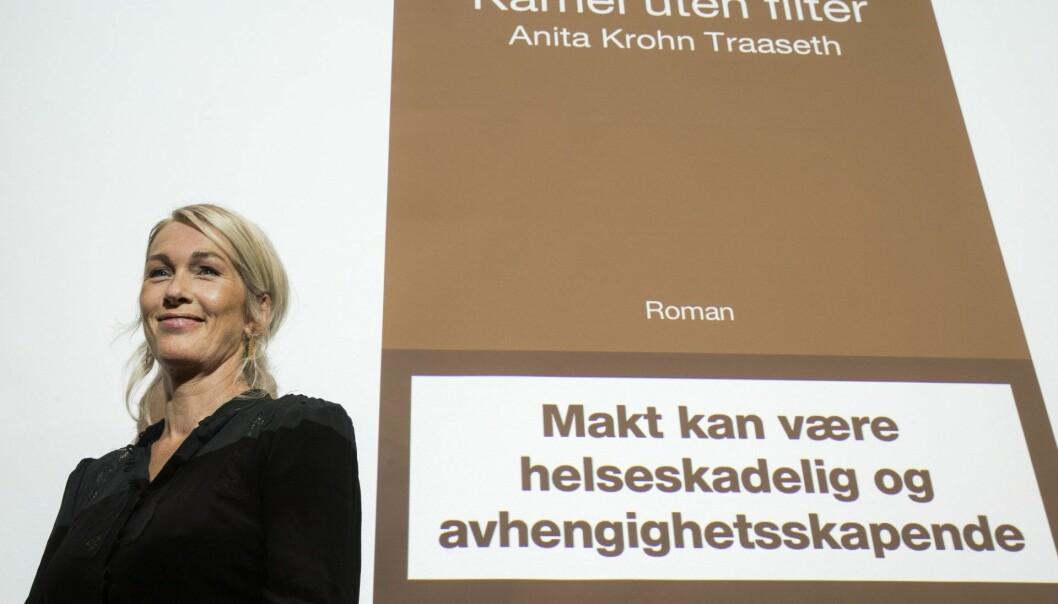 "Under lanseringen av Anita Krohn Traaseths nye bok ""Kamel uten filter"". Foto: Terje Pedersen / NTB scanpix"