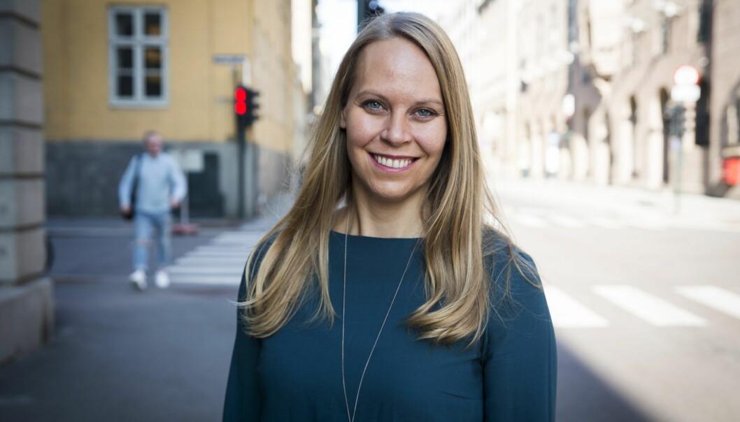 Ingrid Ødegaard i Whereby forteller om teamets remote-kultur på godt og vondt. Foto: Per-Ivar Nikolaisen