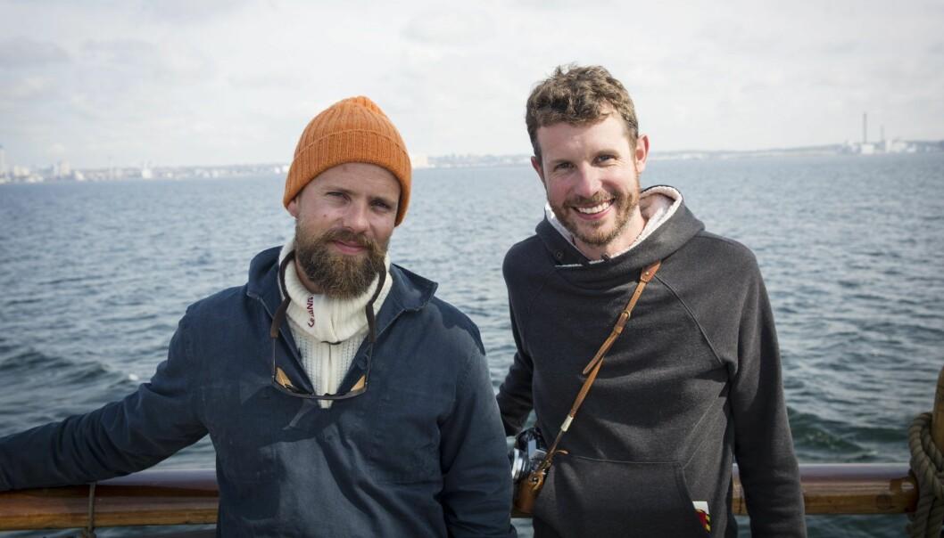 Johan Brand (t.v.) og Jamie Brooker, medgründere i Kahoot og nå partnere i investeringsselskapet WeAreHuman. Foto: Per-Ivar Nikolaisen