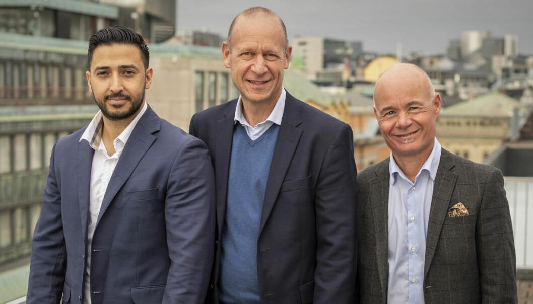 Perx' nye ledelse er hentet fra BRAbank: Jamal Hussain, Morten Grusd og Sven Arnesen. Foto: Perx
