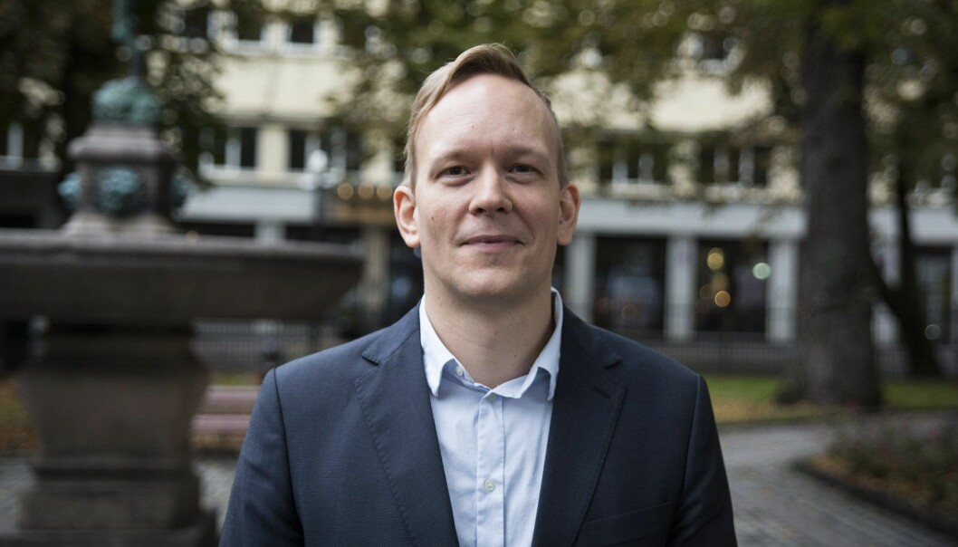 CTO Morten Versvik i Kahoot. Foto: Per-Ivar Nikolaisen