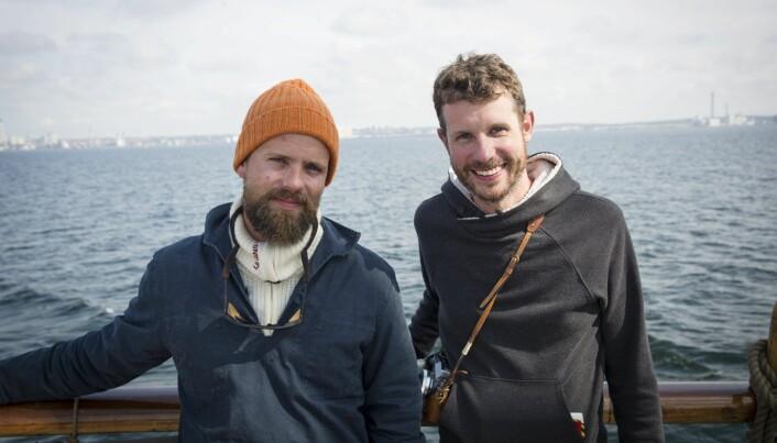 Johan Brand (t.v.) og Jamie Brooker, medgründere i Kahoot og nå partnere i investeringsselskapet We Are Human.
