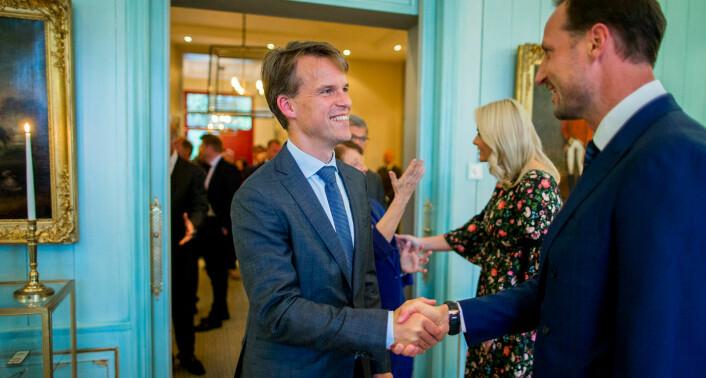 Bjarne Lie, fotografert i forbindelse med en slottsmiddag der han blant annet møtte kronprins Haakon og kronprinsesse Mette-Marit. Foto: Vegard Wivestad Grøtt / NTB scanpix
