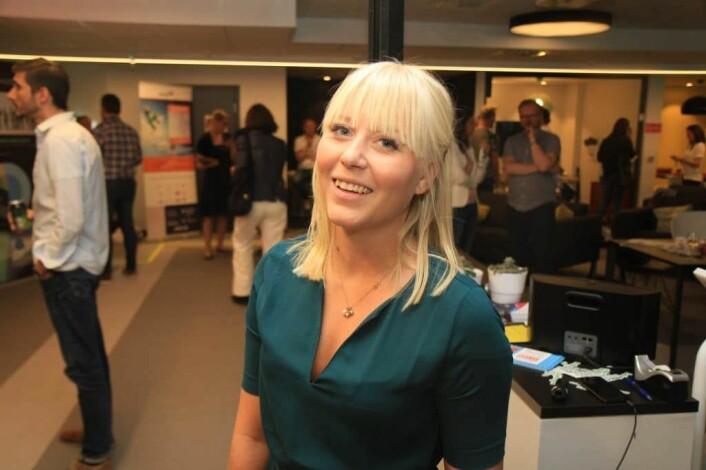 Joanna Duffy (26) er svensk, og har en master i bio-entrepenørskap fra Karolinska i Stockholm. Hun er på utkikk etter en spennende medtech-startup. - Ableon var veldig interessant, sier hun. Foto: Lucas H. Weldeghebriel