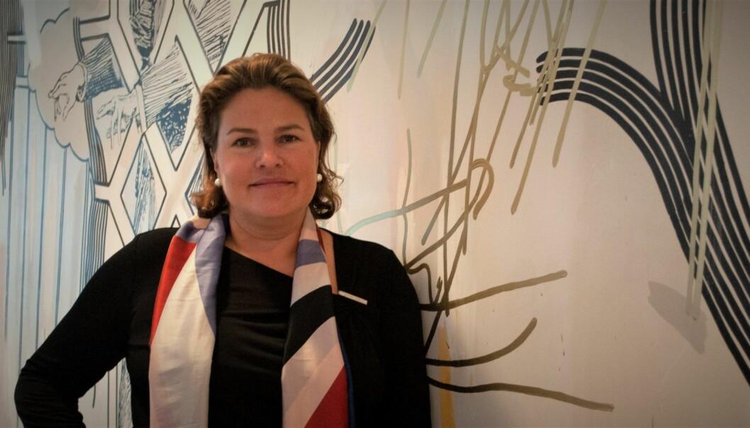 Kari Bech-Moen tiltrådte som HR-direktør i DNB i vår, og ble tatt inn i konsernledelsen i september. Foto: Magnus Peter Harnes