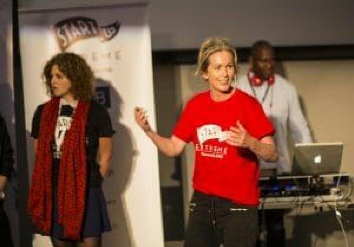 Anita Krohn Traaseth fortalte til Startup Extreme at hun skulle slippe en nyhet, nemlig hvem den nye gründersjefen for Innovasjon Norge blir.