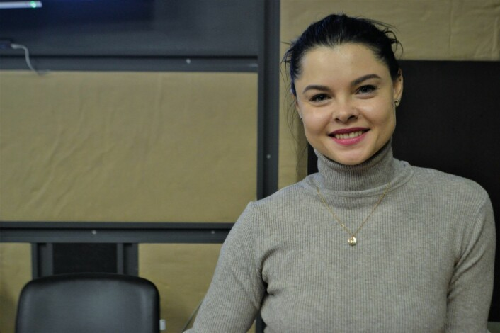 Medgründer og salgsdirektør Maya Styupan i programvareselskapet Lanars. Foto: Magnus Peter Harnes