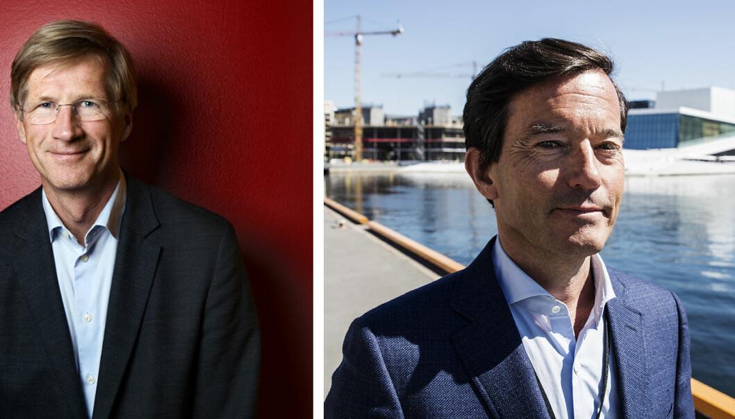 Birger Magnus og Trond Riiber Knudsen er blant landets ledende engleinvestorer. Foto: Presse/Per-Ivar Nikolaisen