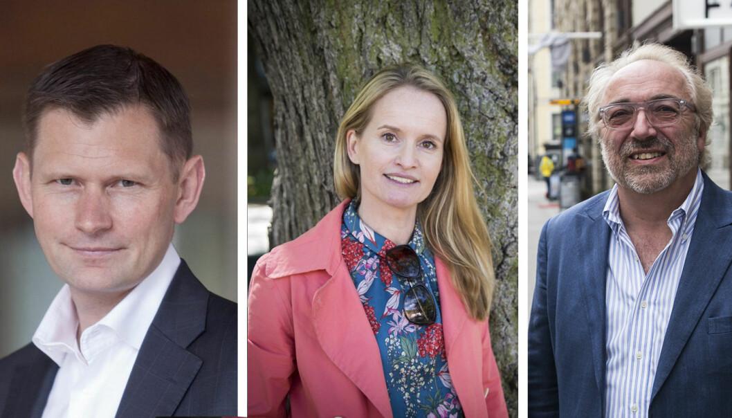 Tidligere Investinor-sjef Haakon Jensen, Vibbio-Gründer Marianne Bratt Ricketts, og Partner i Ailance Venture Erling Maartmann-Moe.
