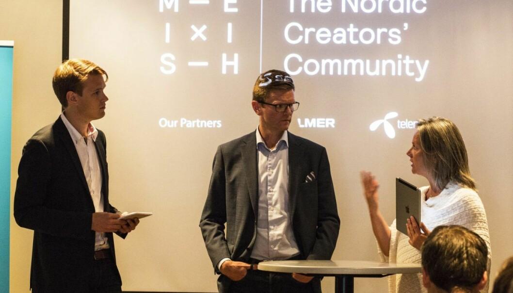 Torstein Tvedt Solberg (Ap), Terje Breivik (V) og Hilde Wibe i Abelia under fremleggelsen av en rapport om skatteinsentiver for investeringer i oppstartsbedrifter. Foto: Per Ivar Nikolaisen.