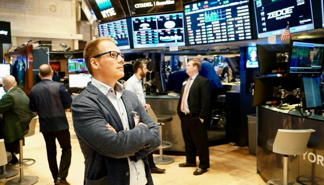 For gründer og Zedge-sjef Tom Arnøy var det et sterkt øyeblikk da Zedge-tickeren var på plass på New York Stock Exchange. Foto: Thor Richard Isachsen
