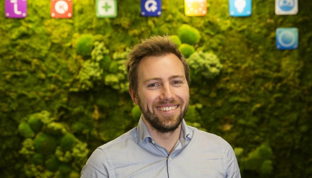 Gründer og CEO Anders Lassen i Fuse. Foto: Per-Ivar Nikolaisen