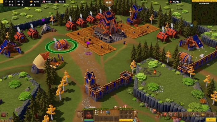 "Dwarfheim er et online strategispill hvor venner kan spille sammen for å beskytte en ""dverg""-by. Foto: Pineleaf Studios"